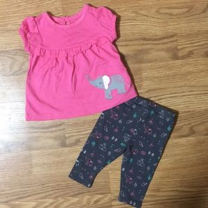 NWOT Carters baby girl outfit size newborn